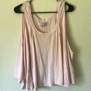 Free people tank top pink color good condition